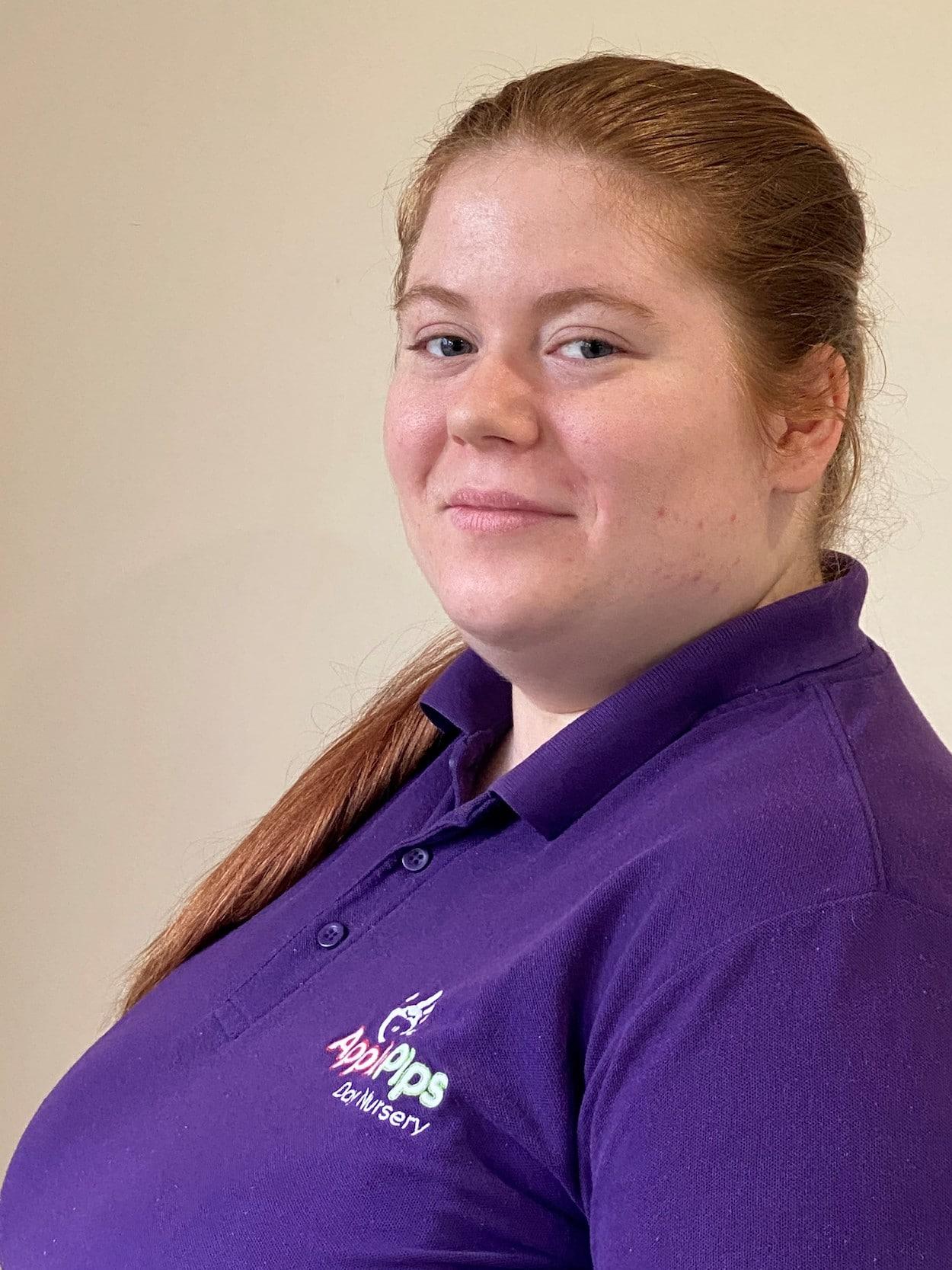 Tiegan - staff member at Apple Pips Day Nursery Rustington