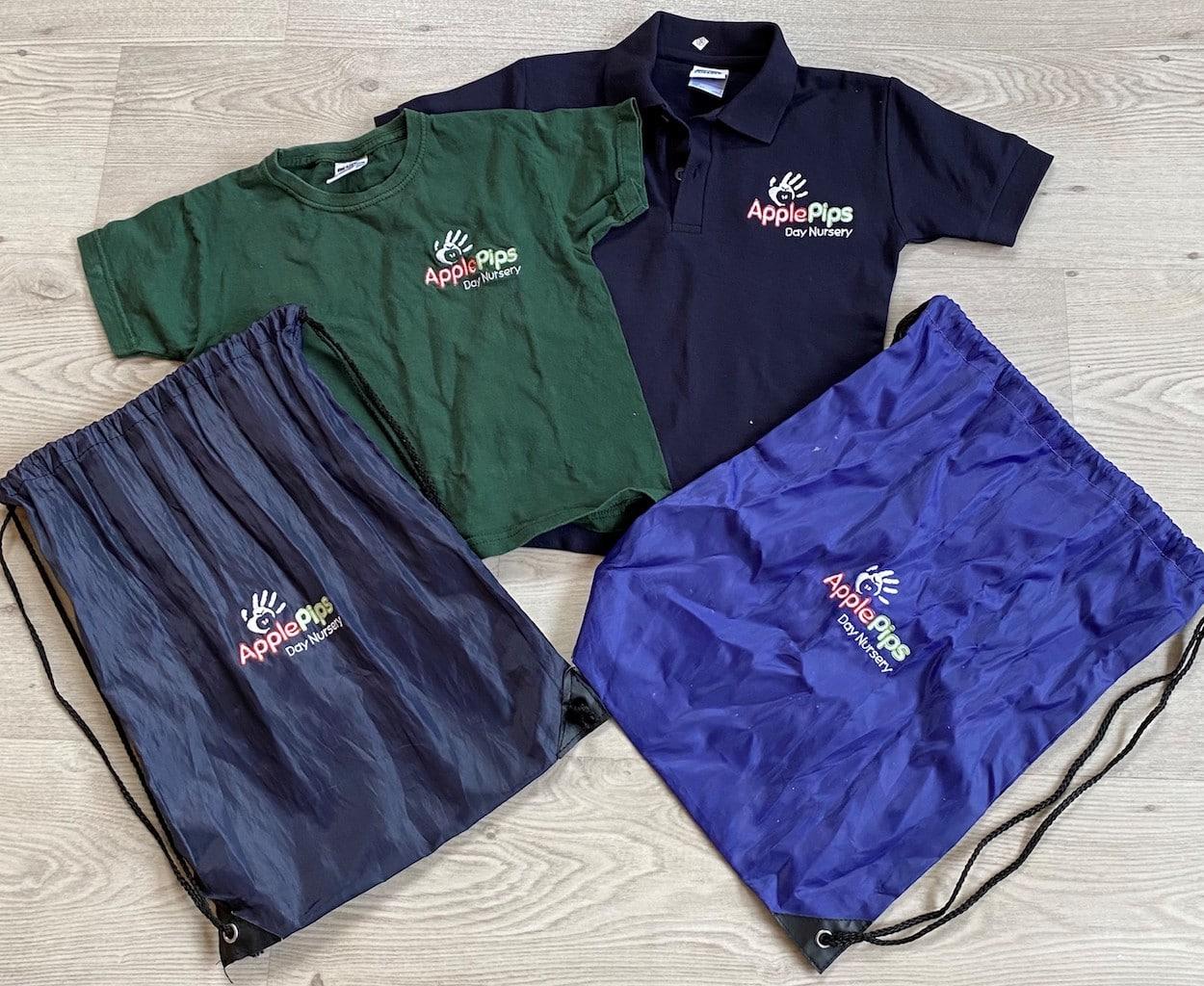 Applepips Uniform and kit bag