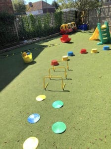 Outdoor PE session at ApplePips Nursery